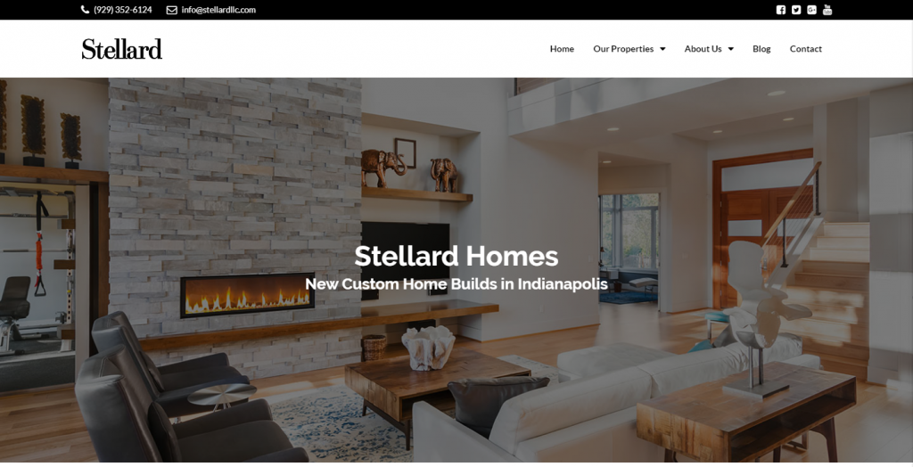 Indianapolis Custom Home Builder Website Design