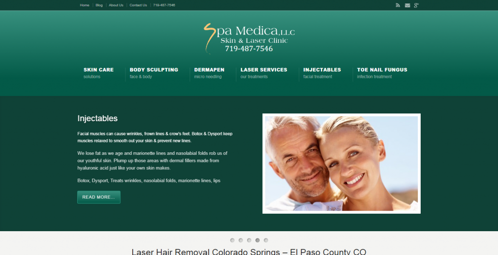 Skin & Laser Medical Spa Website Design
