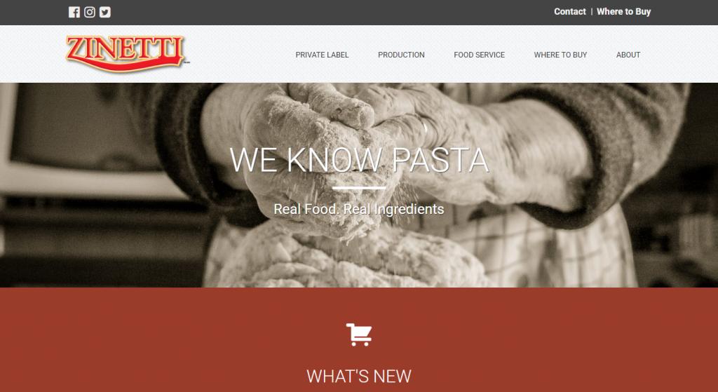 Zinetti Foods Website
