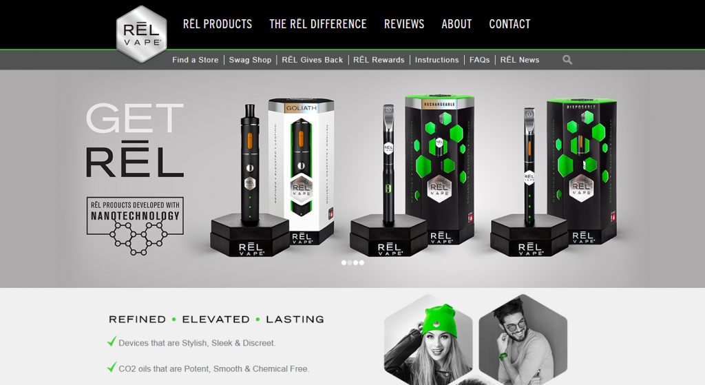 RĒL Vape Website Development