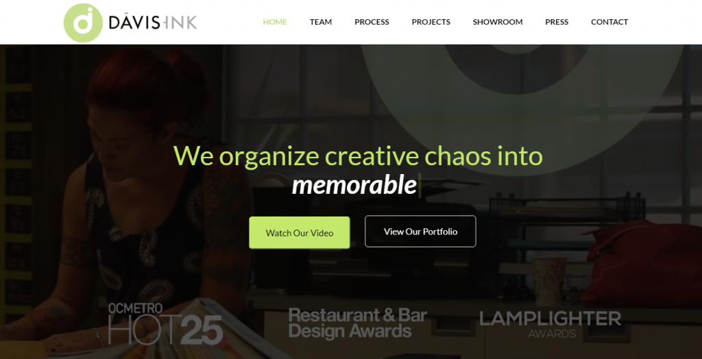Davis Ink Website Design