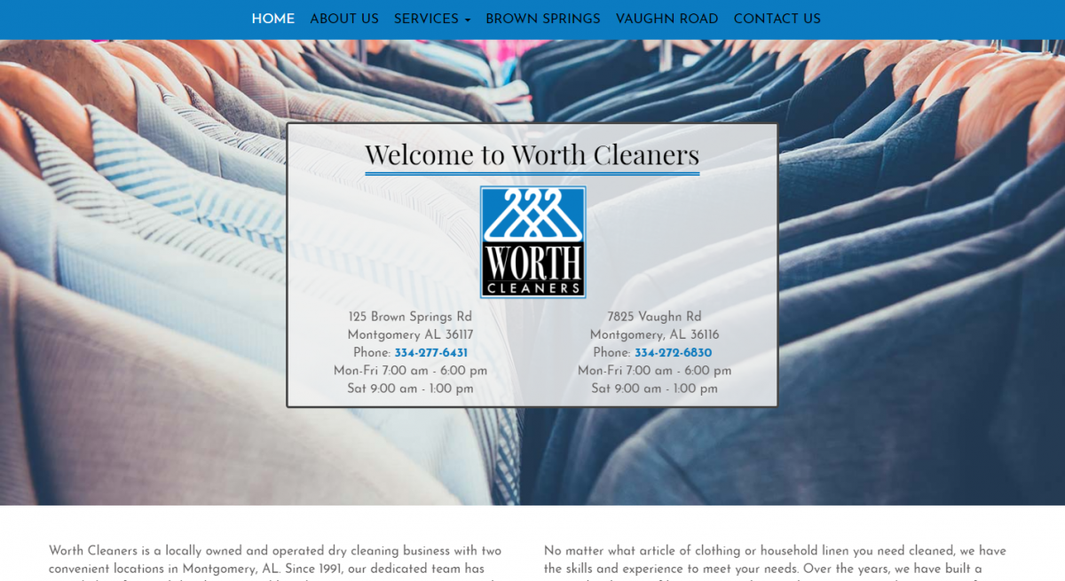 WORTH CLEANERS