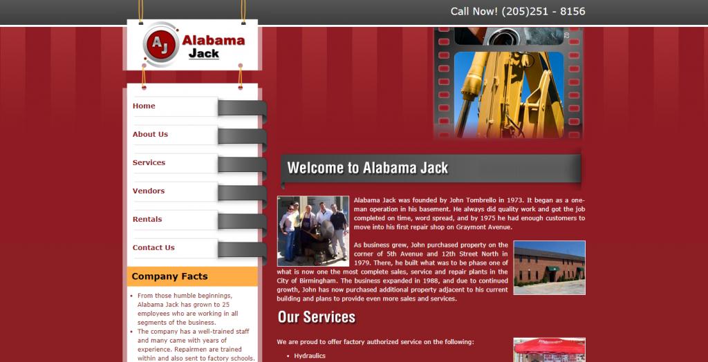 The Alabama Jack website