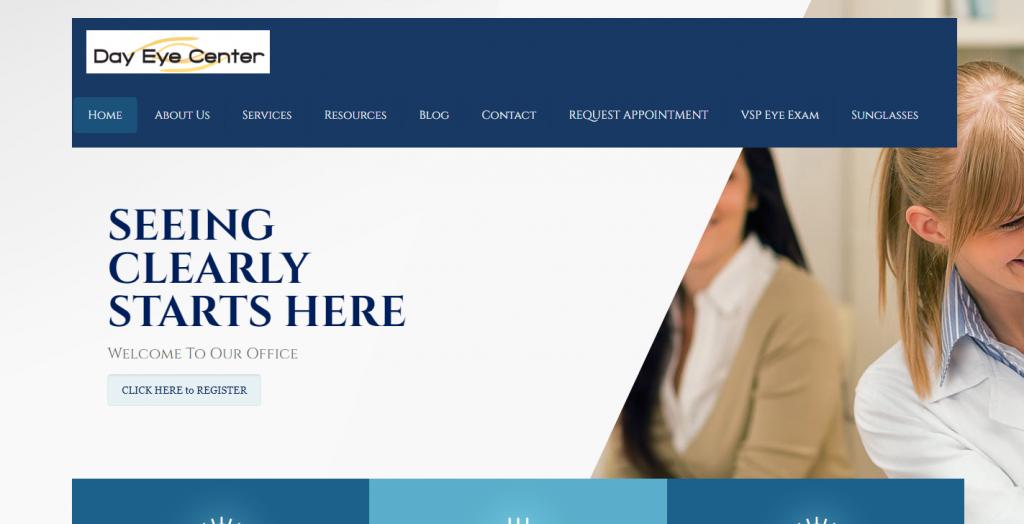 The Day Eye Center website