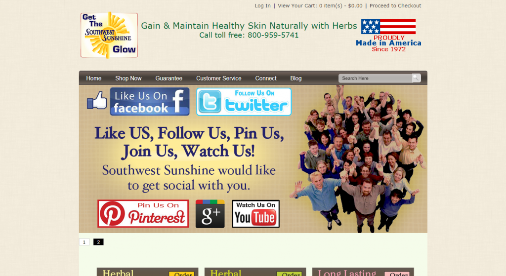 Southwest Sunshine Herbal Skin Care