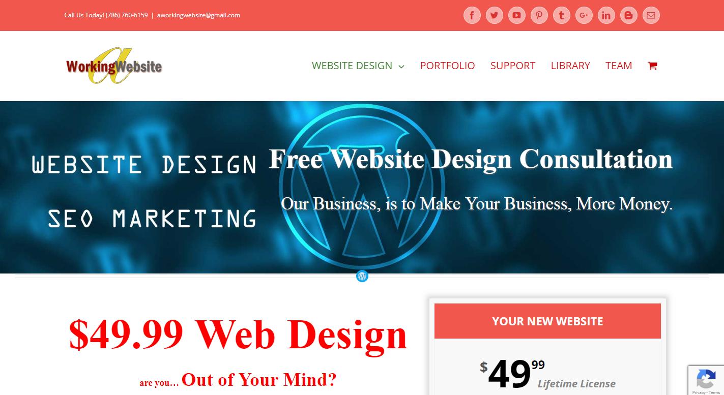 A Working Website