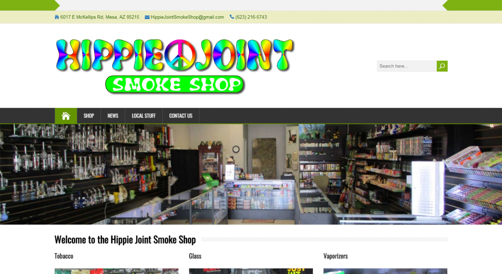 Project URL:The Hippie Joint Smoke Shop