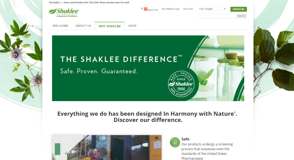 Shaklee Natural Products