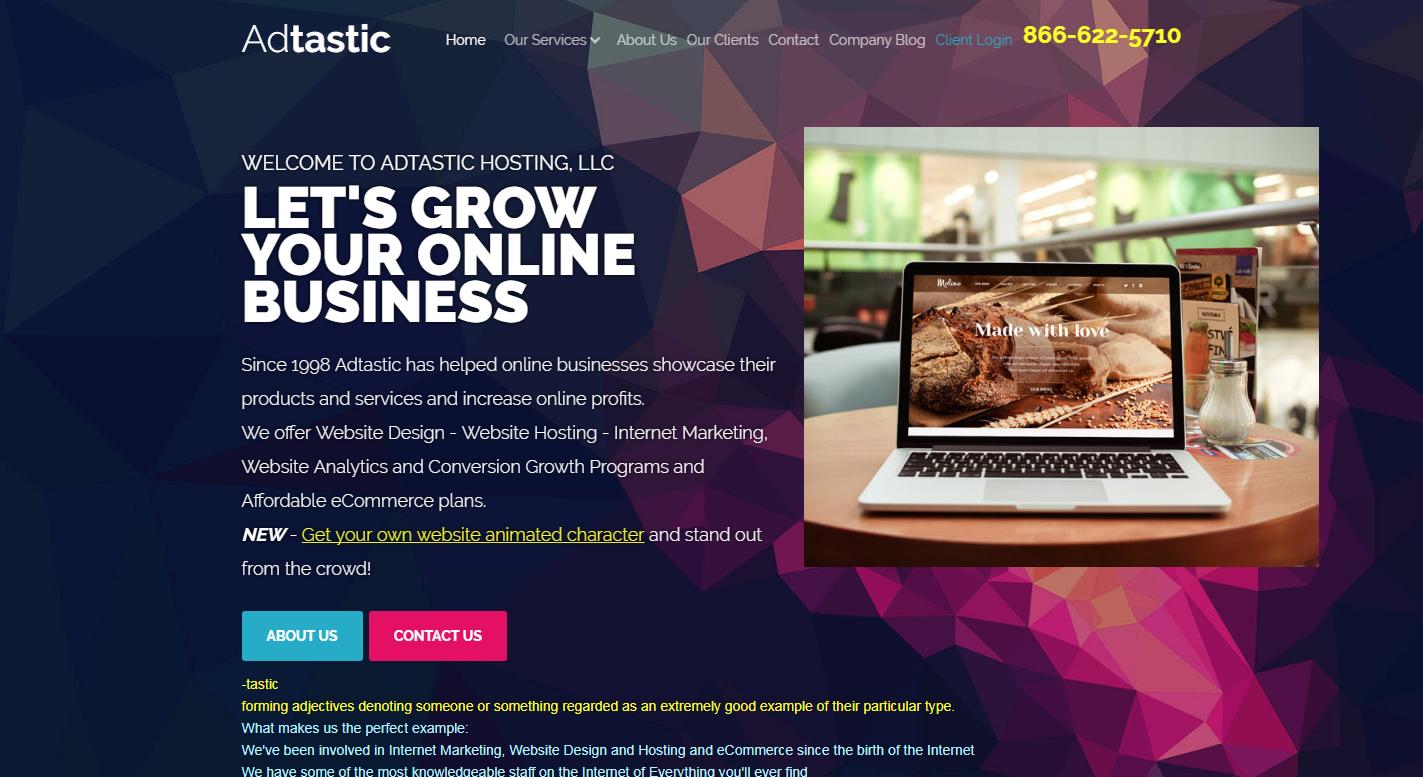 Adtastic® Hosting and Internet Services, LLC