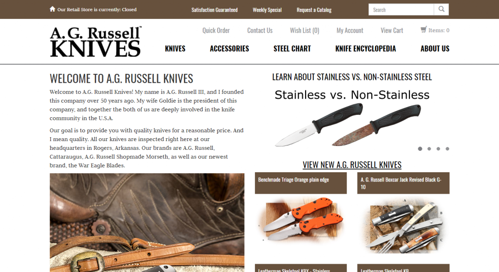 A.G. RUSSELL KNIVES