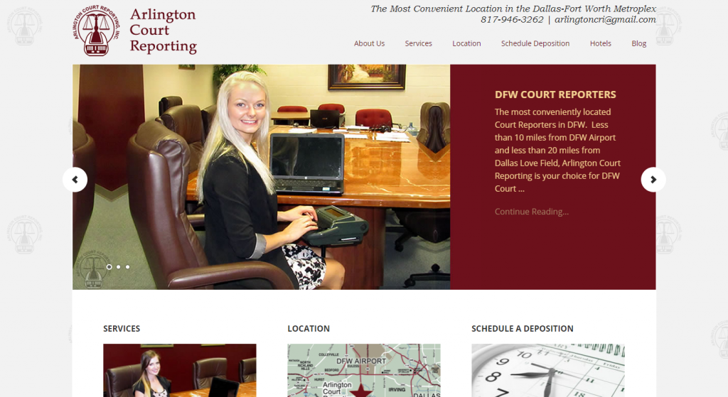 ARLINGTON COURT REPORTING, INC