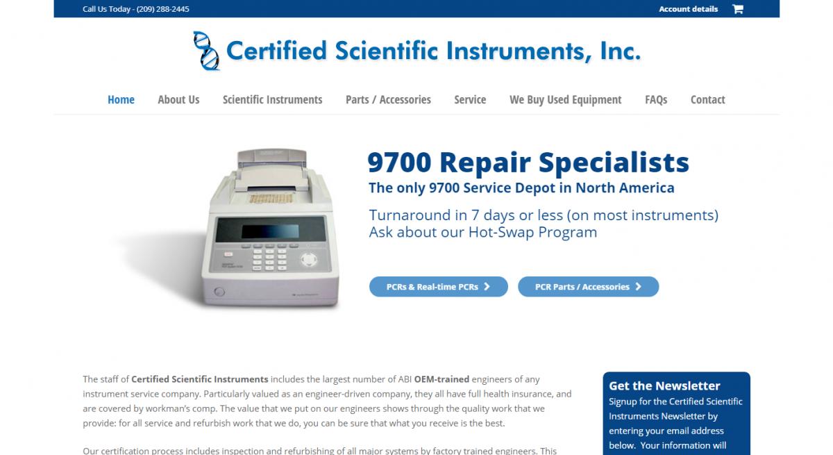 Certified Scientific Instruments, Inc