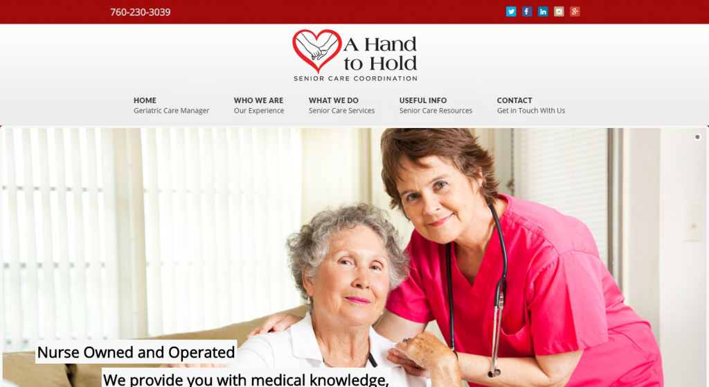 A Hand to Hold – Geriatric Management San Diego