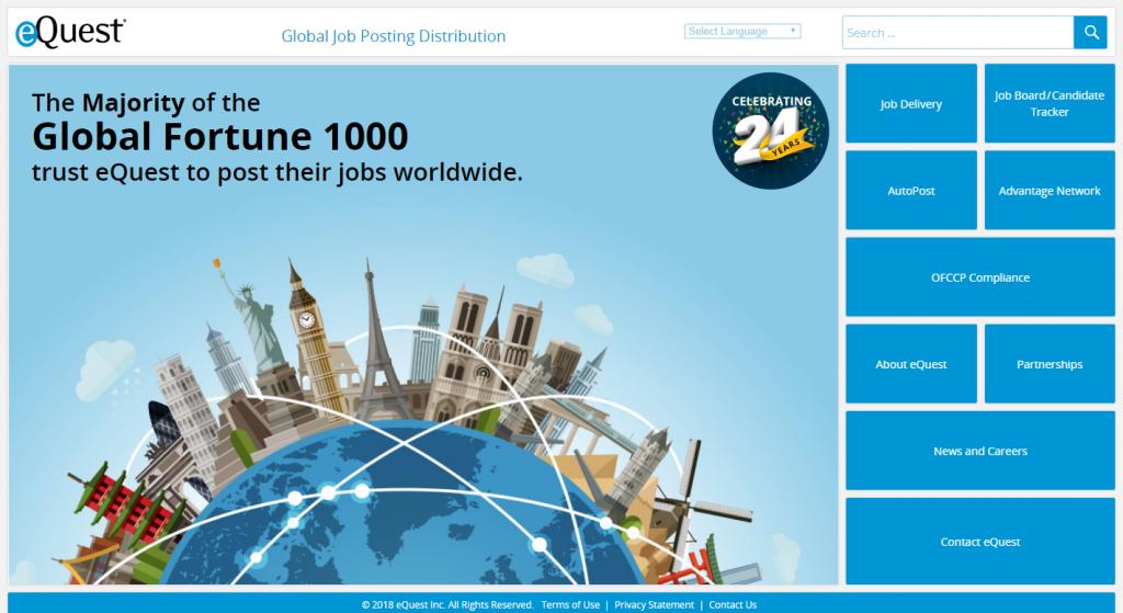 Global job posting leader eQuest