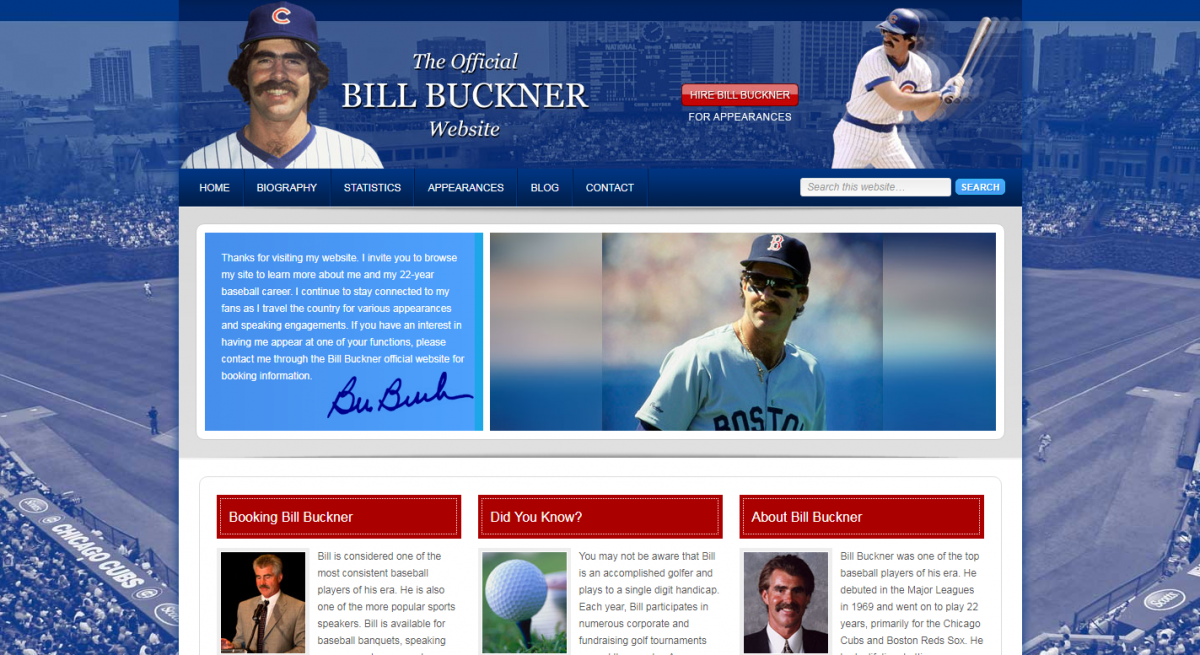 Bill Buckner Official Website