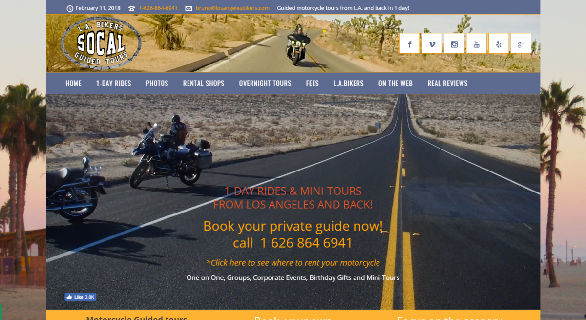 Los Angeles Bikers | Motorcycle tour in Southern California