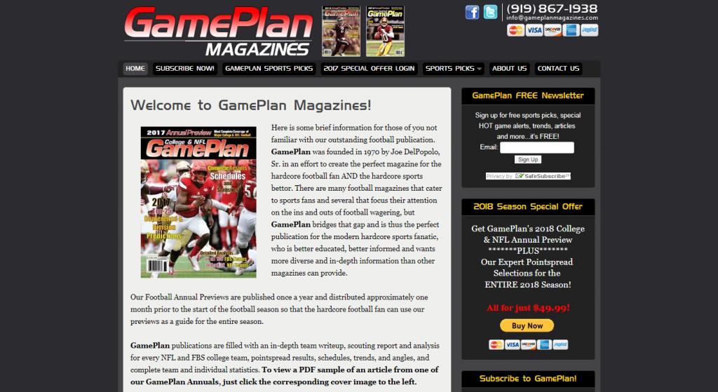 Game Plan Magazines