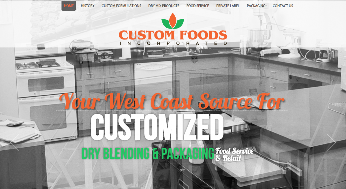 CUSTOM FOODS, INC