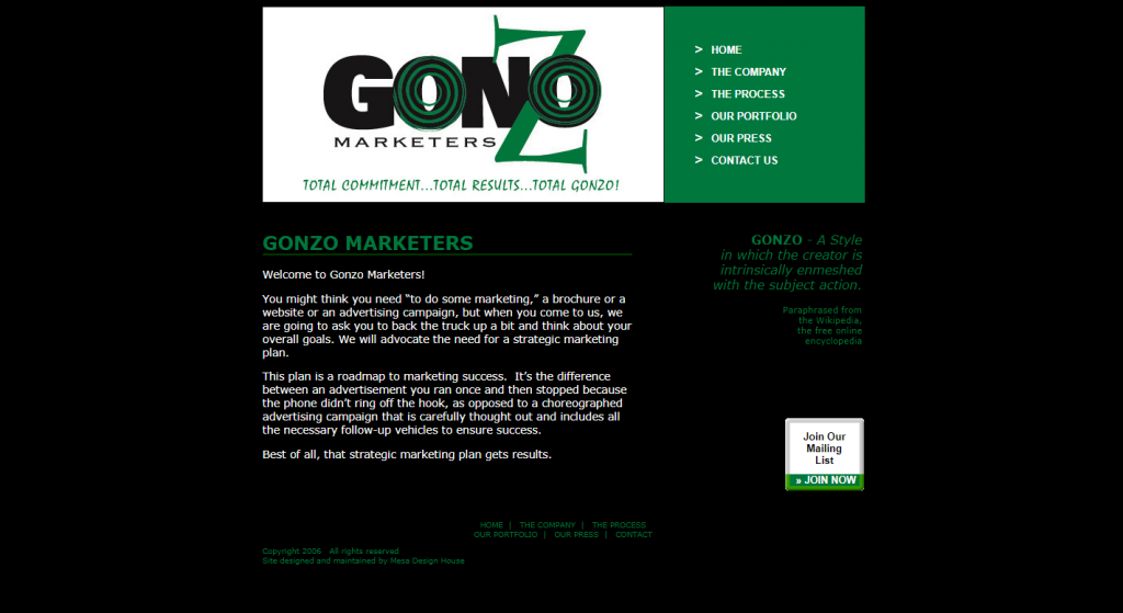 Gonzo Marketers
