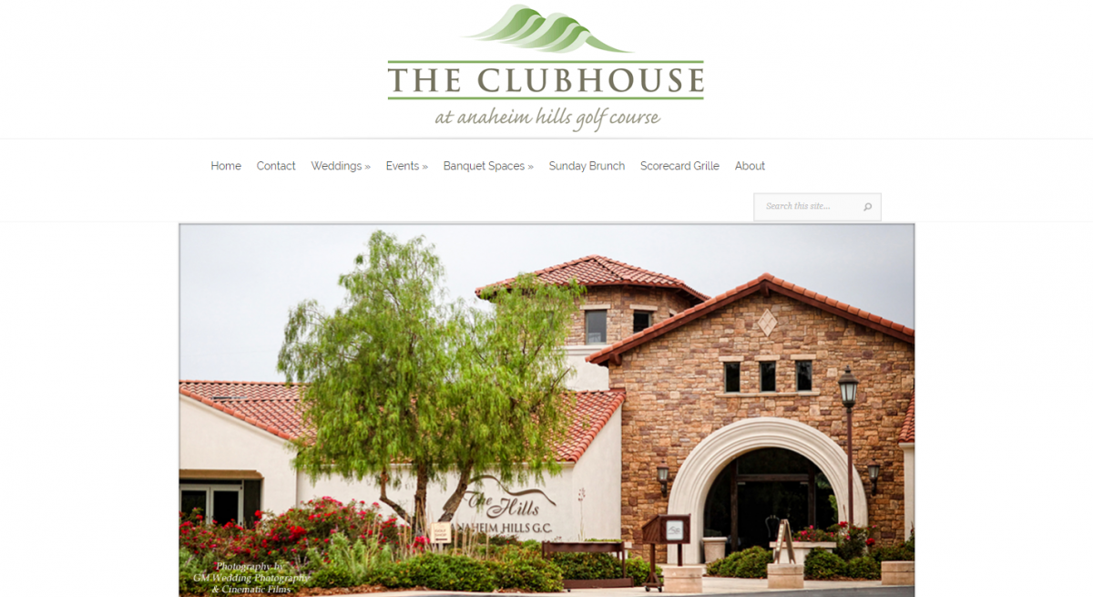 The Anaheim Hills Golf Course Clubhouse
