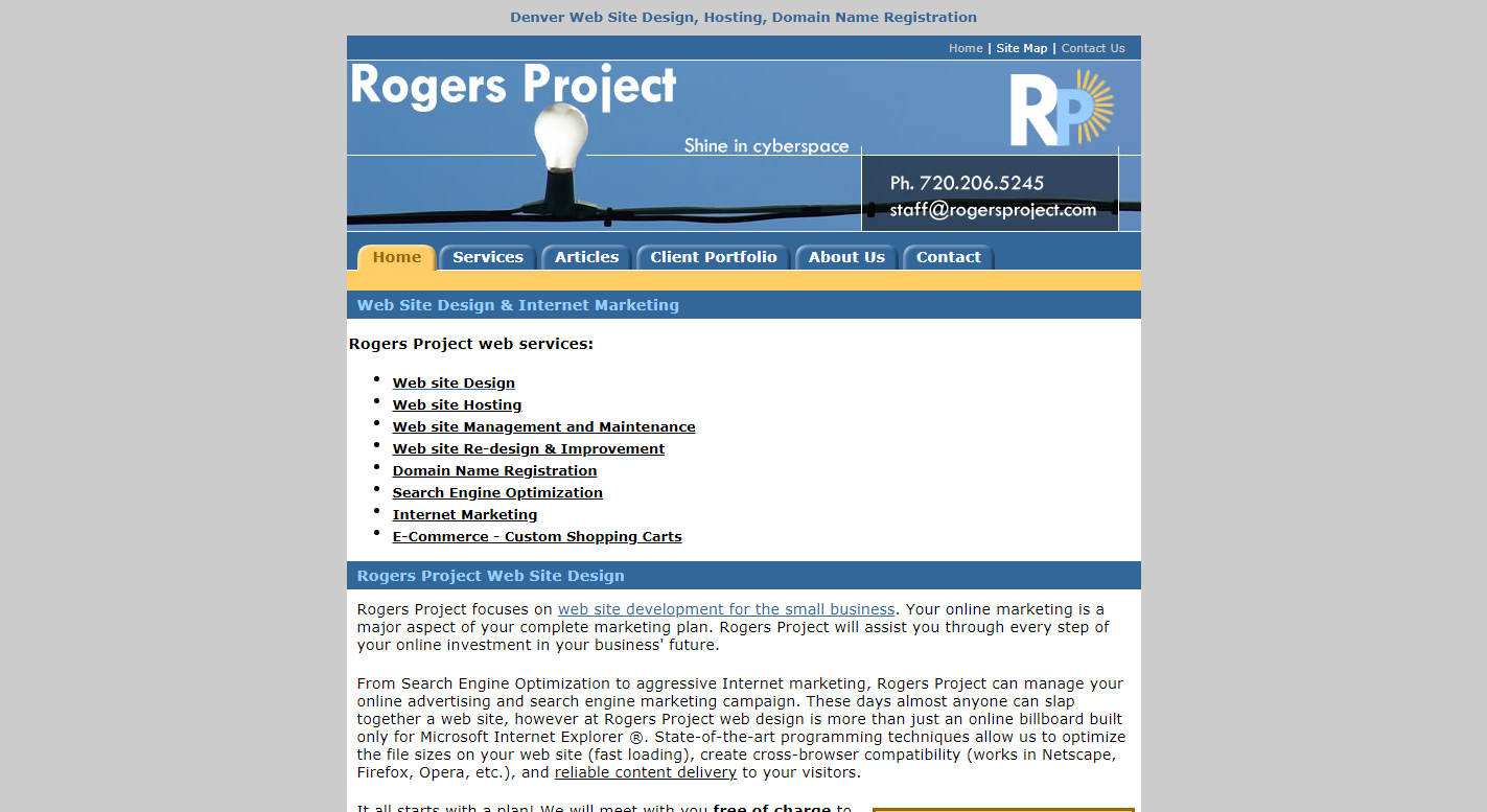 Rogers Project Website Design