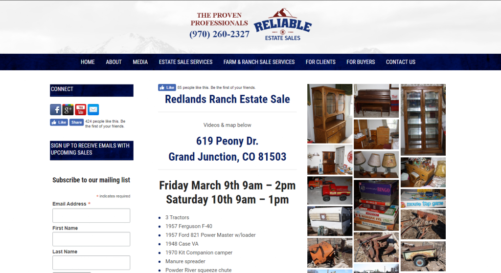 Redlands Ranch Estate Sale