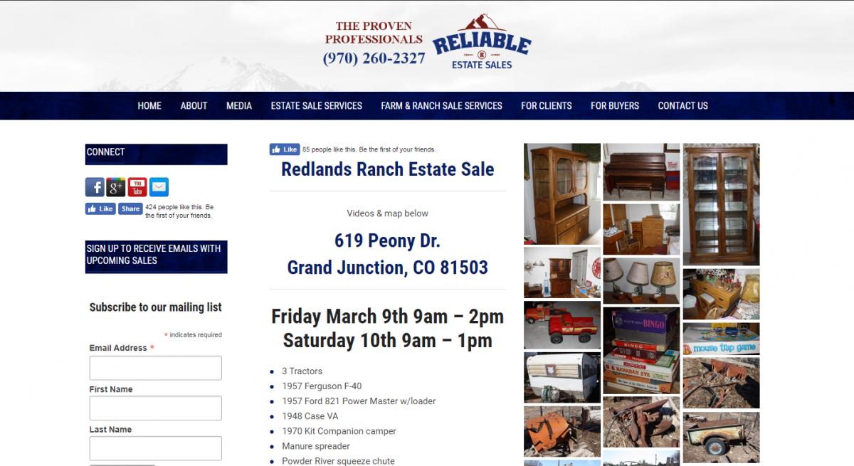 Redlands Ranch Estate Sale
