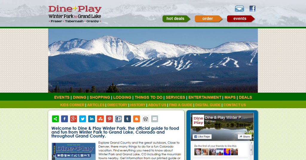 Dine & Play Grand Lake to Winter Park