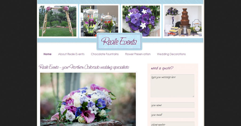 Reale EventsWedding Flowers