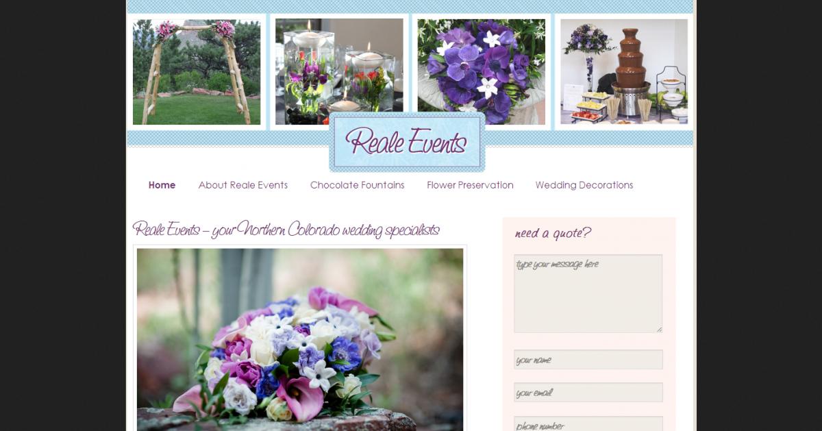 Reale EventsWedding Flowers