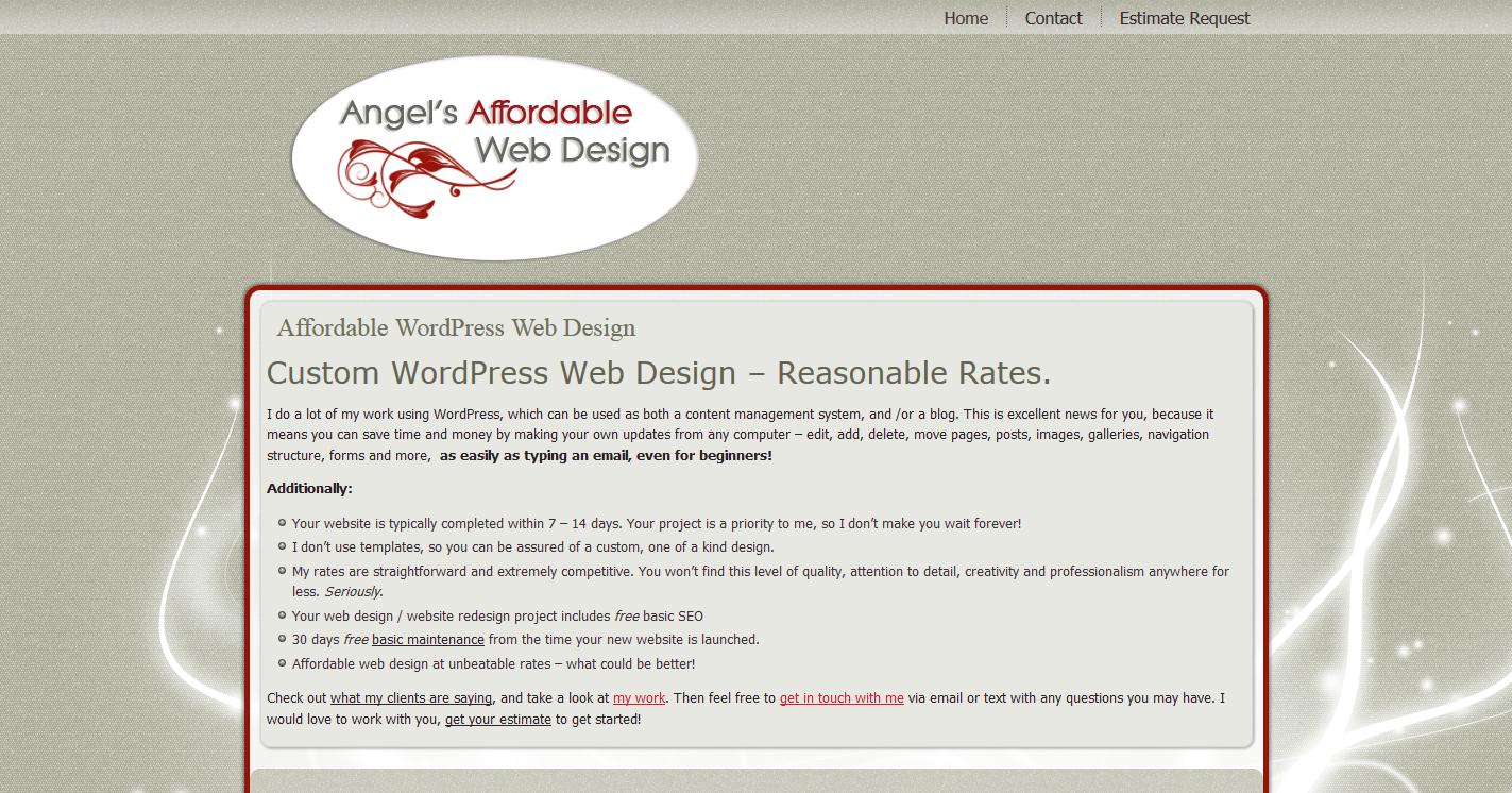 Angel's Affordable Web Design