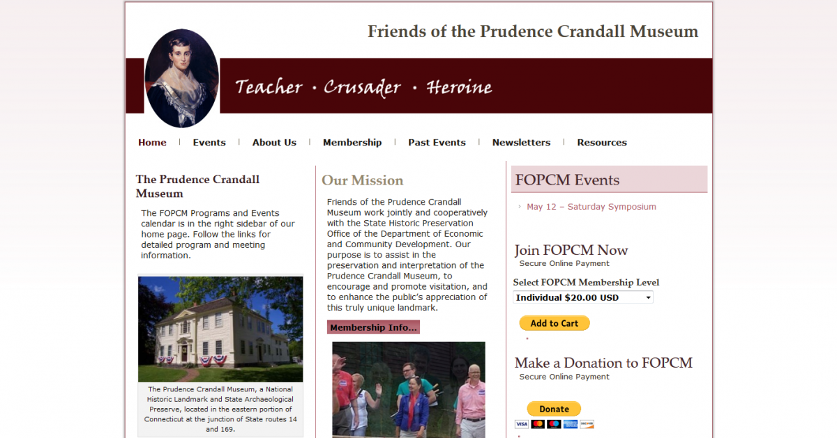 Friends of the Prudence Crandall Museum