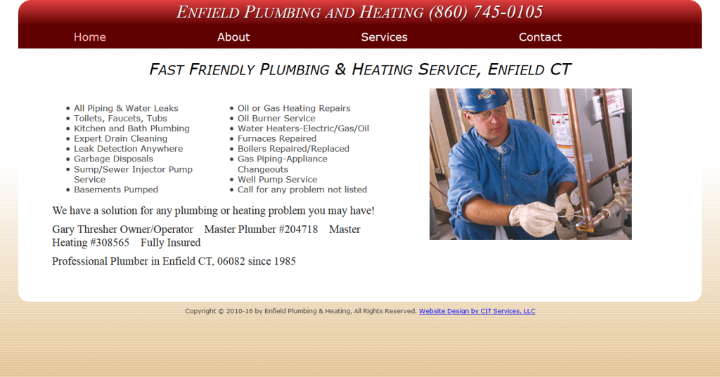 Fast Friendly Plumbing & Heating Service, Enfield CT