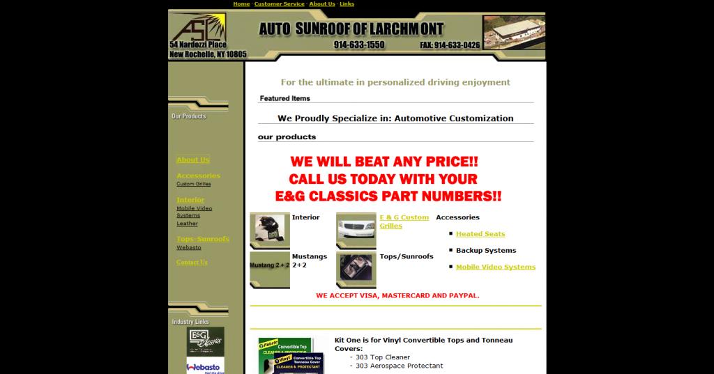 Auto Sunroof of Larchmont, Inc