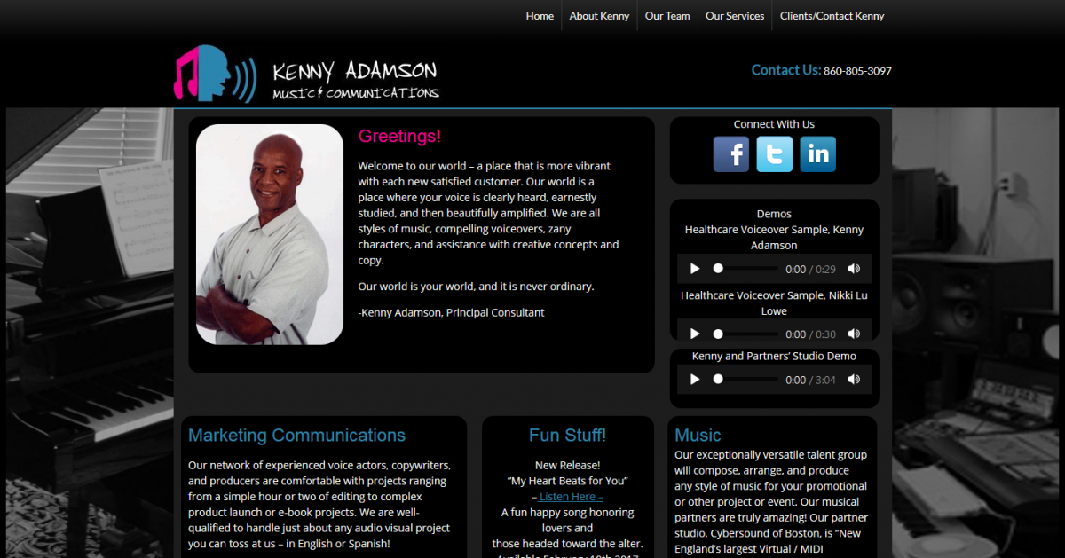 Kenny Adamson Music and Communications