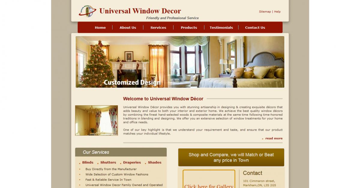 Universal Window Décor