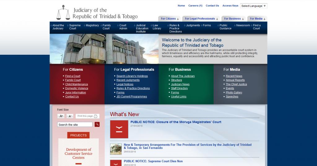 The Judiciary of Trinidad & Tobago