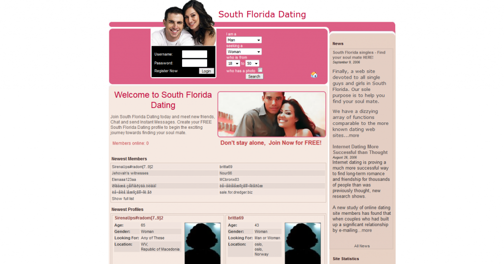 Dating Service for S. Florida Singles