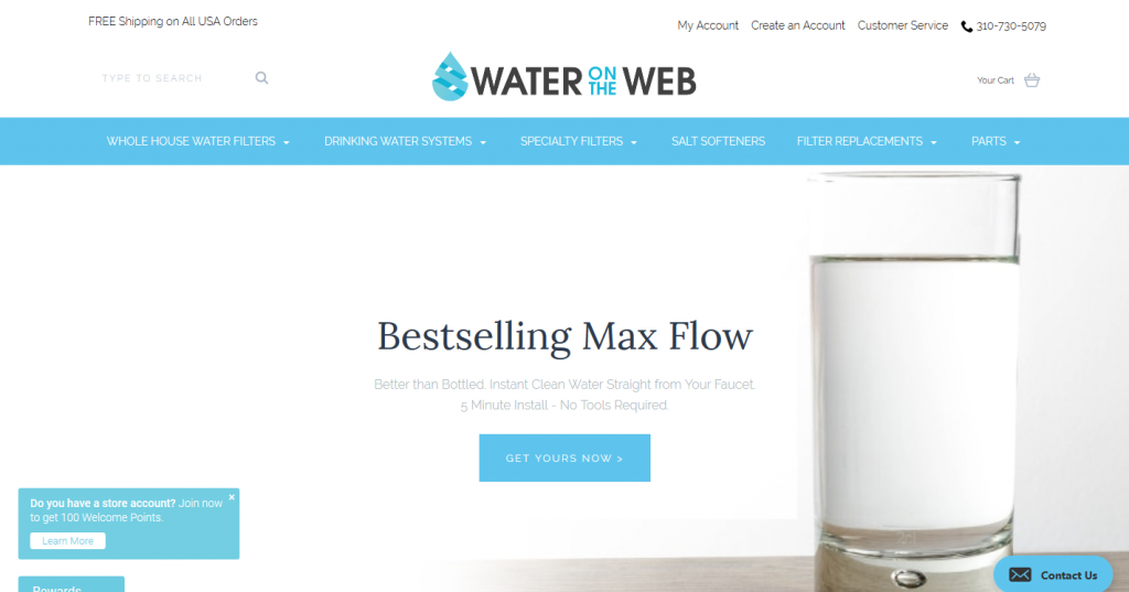 Water on the Web Website Redesign