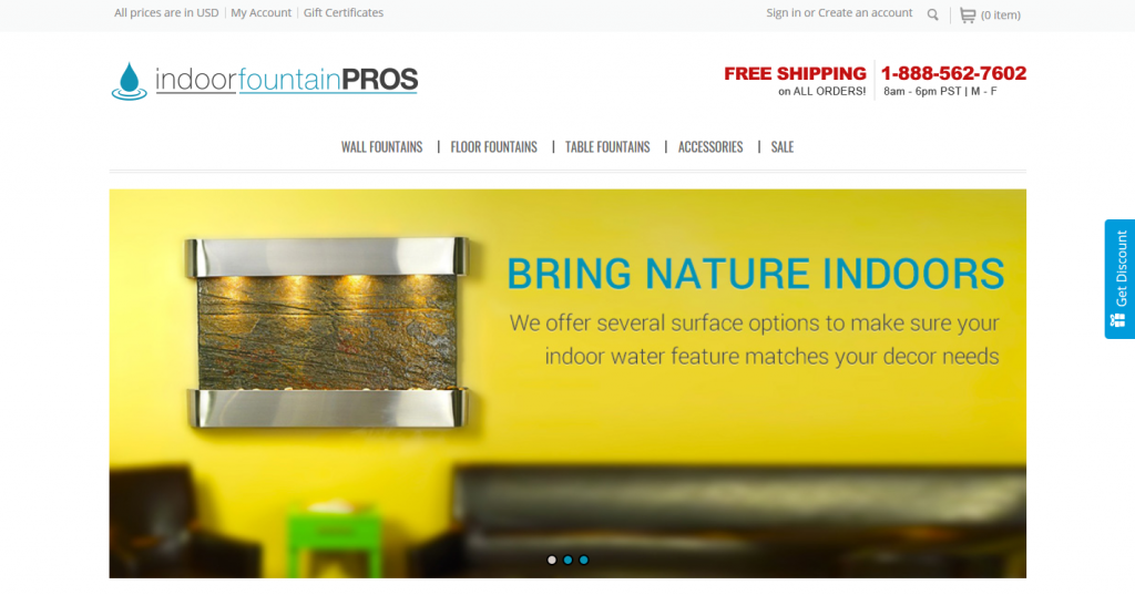 Indoor Fountain Pros Website