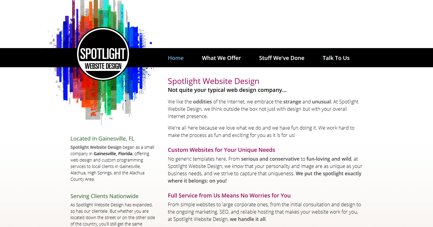 Spotlight Website Design