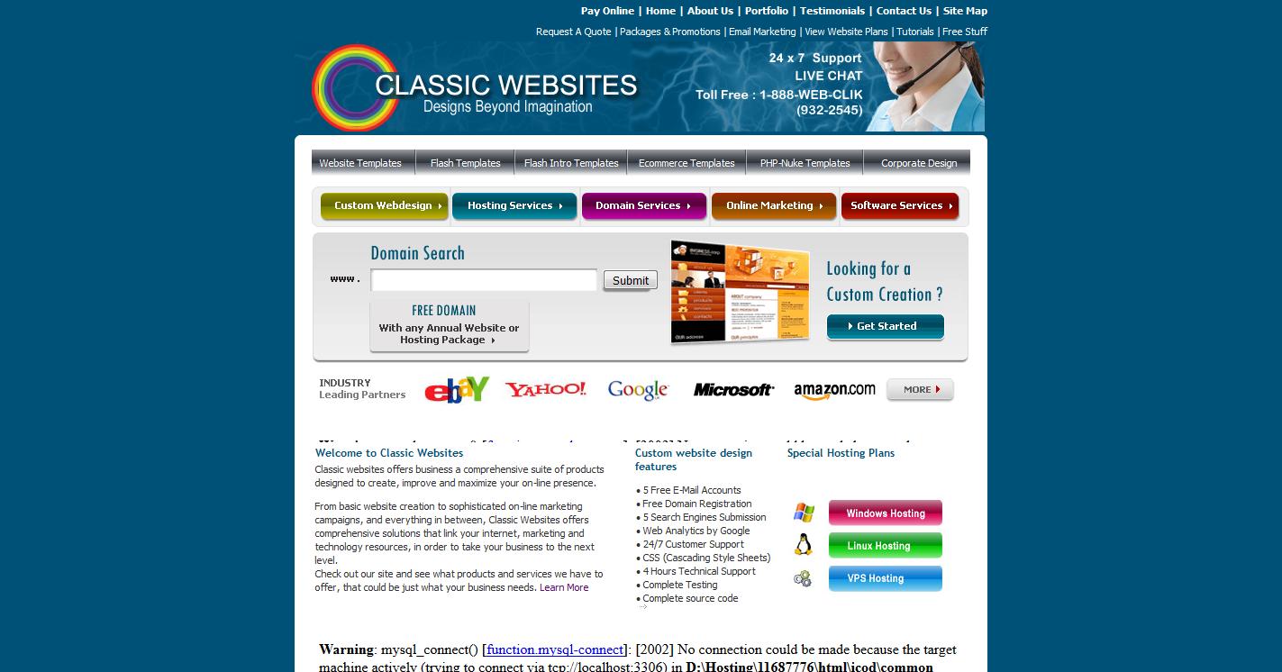 Classic Websites