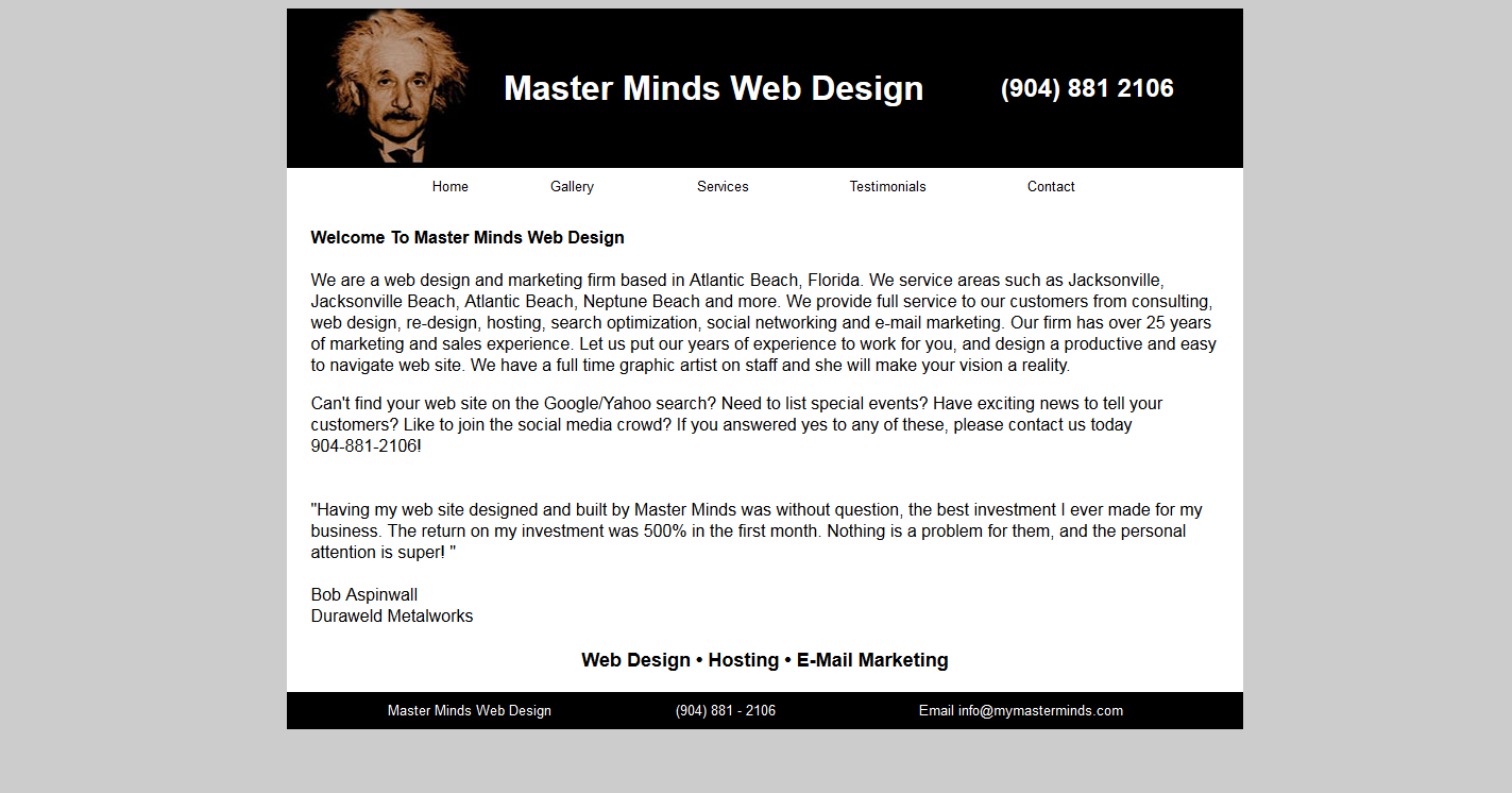 Master Minds Web Design