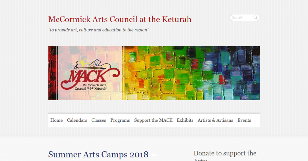 McCormick Arts Council at the Keturah