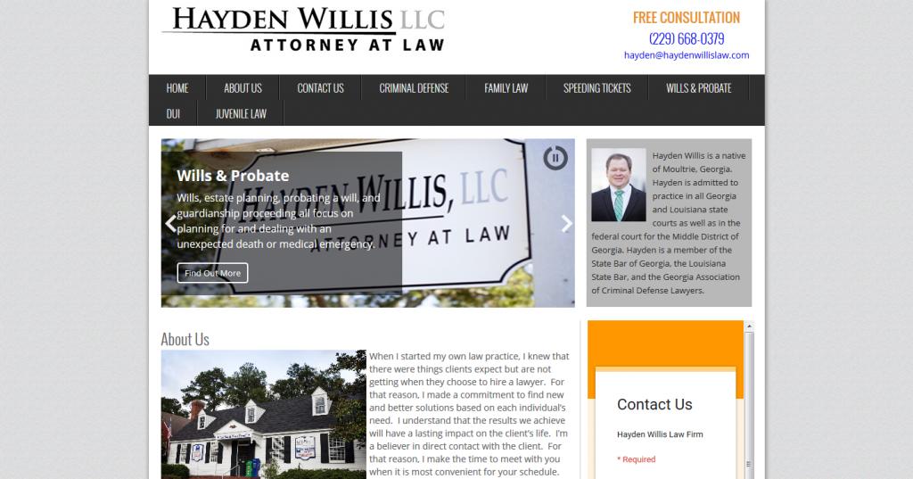 Hayden Willis Law