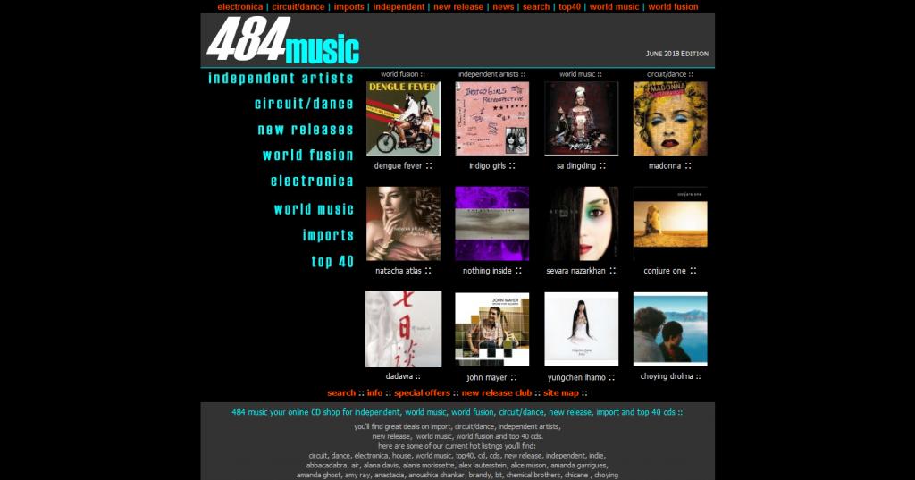 484 Music Atlanta Web Site Design