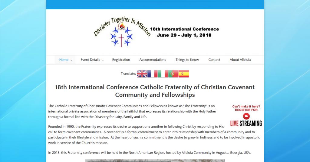18th International Conference Catholic Fraternity