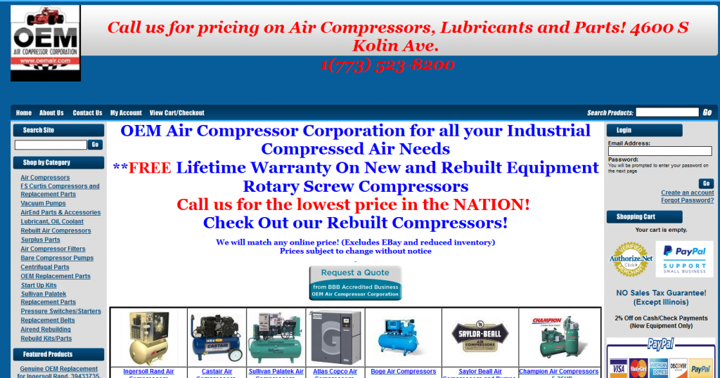Chicago Industrial Air Compressor Supplier
