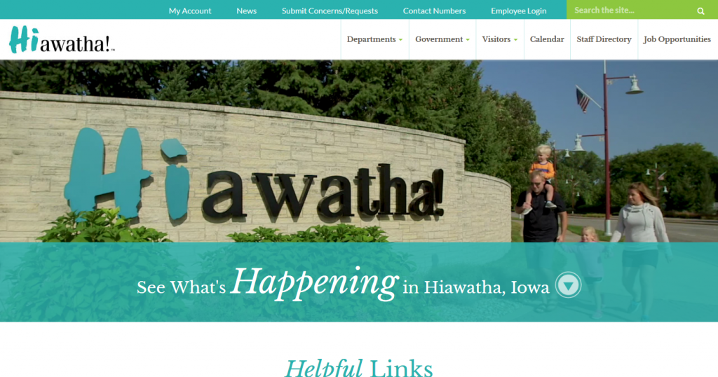 The city of Hiawatha