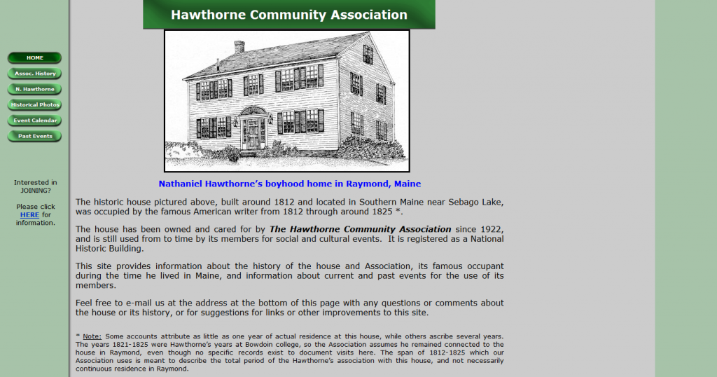 Hawthorne Community Association, Raymond, Maine